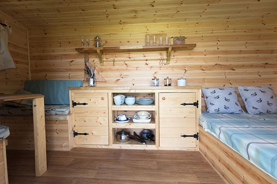 Duck Hut interior